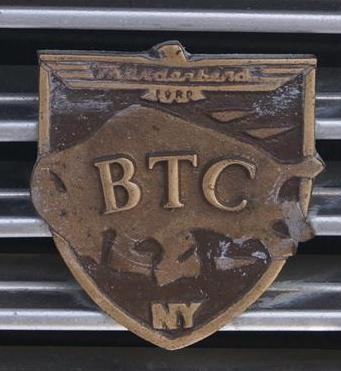 BTC Brass Grille Badge